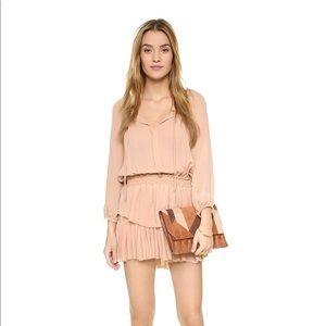 NWT 100% silk Love Shack Fancy blush popover dress